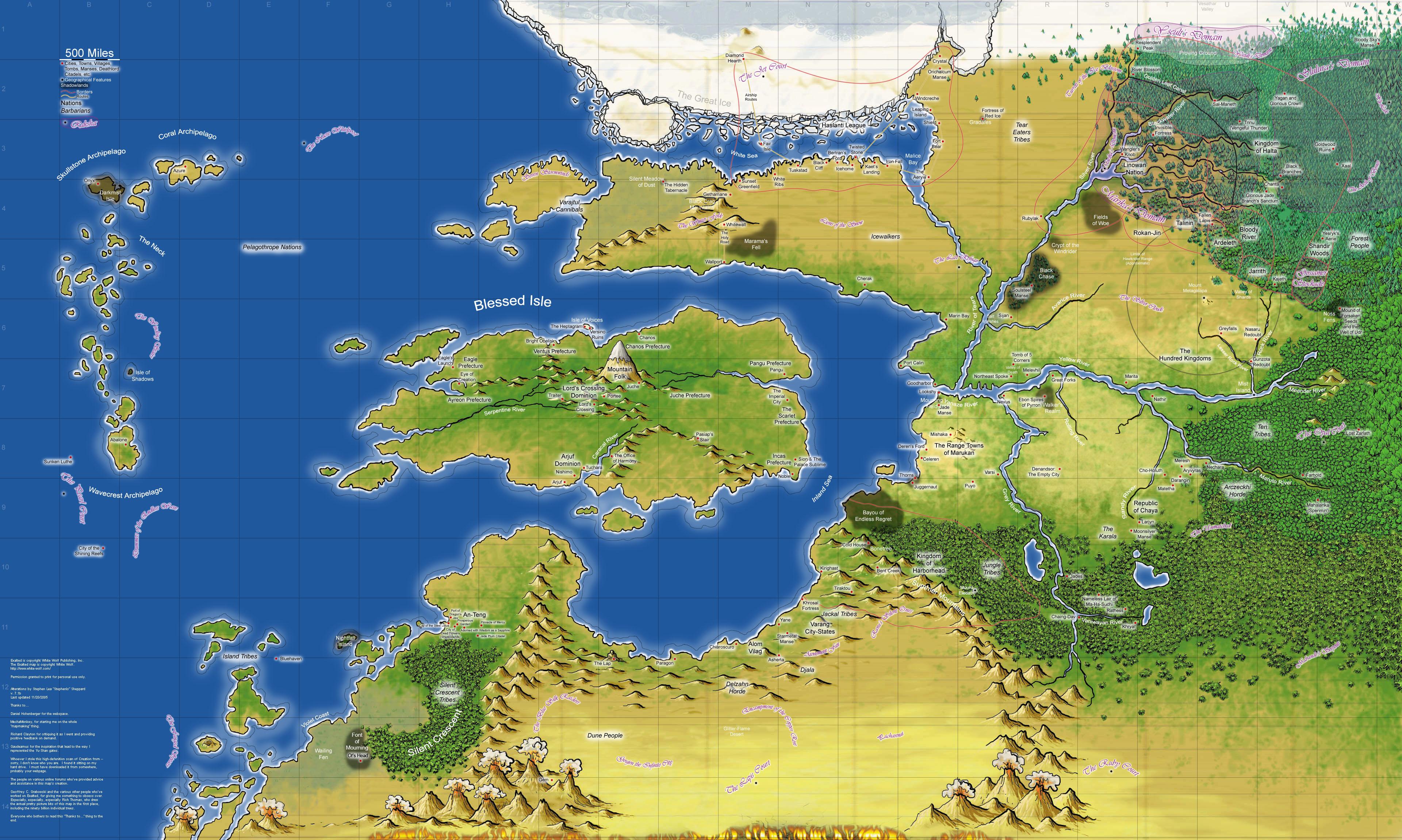 Ice Island Rpg Map
